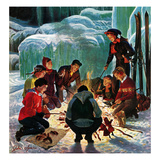 """Apres Ski Bonfire""  February 23  1952"