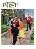"""""""Picking Poindexter"""" Saturday Evening Post Cover  October 17  1959"""