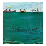 &quot;School of Fish Among Lines&quot;  August 7  1954