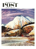 """Cascade Mountain Farm"" Saturday Evening Post Cover  February 1  1958"