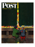 """Toy Store Window"" Saturday Evening Post Cover  December 9  1950"