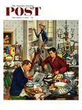 """Home Improvement"" Saturday Evening Post Cover  December 5  1953"
