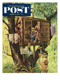 """No Girls Allowed"" Saturday Evening Post Cover  August 9  1952"