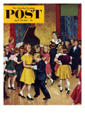 """Dance Cotillion"" Saturday Evening Post Cover  April 28  1951"
