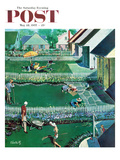 &quot;Spring Yardwork&quot; Saturday Evening Post Cover  May 18  1957