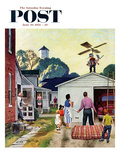 """Learning to Fly"" Saturday Evening Post Cover  June 20  1953"