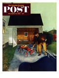 """Don't Block the Driveway"" Saturday Evening Post Cover  December 12  1953"