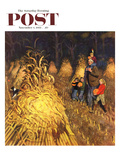 """Bring Home Pumpkins"" Saturday Evening Post Cover  November 1  1952"