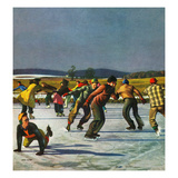 """Ice Skating on Pond""  January 26  1952"