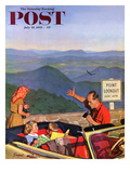 """Lookout Point"" Saturday Evening Post Cover  July 18  1953"