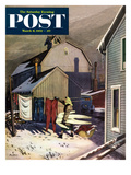 &quot;Frozen Laundry&quot; Saturday Evening Post Cover  March 8  1952