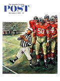 """Five Yard Penalty"" Saturday Evening Post Cover  December 5  1959"