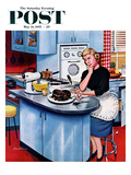 """First Cake"" Saturday Evening Post Cover  May 21  1955"