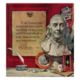"""Benjamin Franklin - Bust and Quote""  January 21  1956"