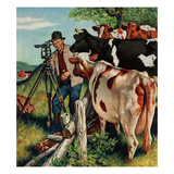 """Surveying the Cow Pasture""  July 28  1956"