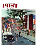 """Float Flat"" Saturday Evening Post Cover  July 5  1958"