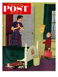&quot;Mom  I Cleaned My Room!&quot; Saturday Evening Post Cover  April 2  1955
