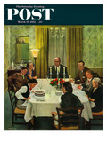 &quot;Family Birthday Party&quot; Saturday Evening Post Cover  March 15  1952