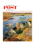"""Gloucester Harbor"" Saturday Evening Post Cover  November 14  1959"