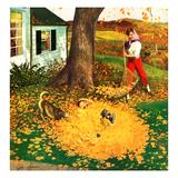 """""""Leaf Pile""""  October 16  1954"""