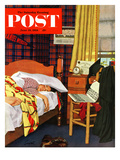 """Sleeping In"" Saturday Evening Post Cover  June 19  1954"