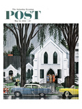"""Sunday Rain"" Saturday Evening Post Cover  May 24  1958"