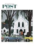 """Sunday Rain"" Saturday Evening Post Cover  May 24  1958"