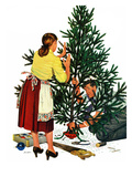"""Centering the Christmas Tree""  December 22  1951"
