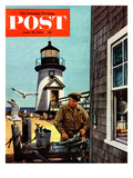"""Lighthouse Keeper"" Saturday Evening Post Cover  June 26  1954"