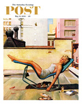 """Up On the Roof"" Saturday Evening Post Cover  May 9  1959"