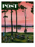 """Evening Picnic"" Saturday Evening Post Cover  August 18  1951"