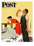 &quot;Take Your Medicine&quot; Saturday Evening Post Cover  September 23  1950