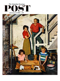 &quot;Kittens in the Basement&quot; Saturday Evening Post Cover  January 8  1955