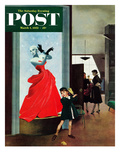 &quot;Mannequin&quot; Saturday Evening Post Cover  March 1  1952