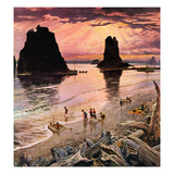 """Pacific Ocean Sunset""  July 27  1957"