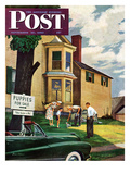 &quot;Picking a Puppy&quot; Saturday Evening Post Cover  September 30  1950