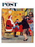 """Crying on Santa's Lap"" Saturday Evening Post Cover  December 6  1958"