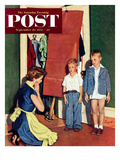 """Suiting Her Sons"" Saturday Evening Post Cover  September 20  1952"