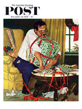 """All Wrapped Up in Christmas"" Saturday Evening Post Cover  December 19  1959"