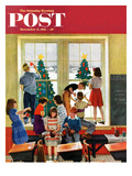 """Classroom Christmas"" Saturday Evening Post Cover  December 8  1951"