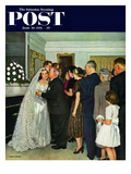 """Receptions Line"" Saturday Evening Post Cover  June 16  1951"