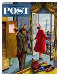 """Paris Hotel"" Saturday Evening Post Cover  July 14  1956"