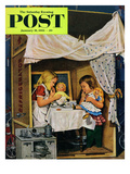 """Playing House"" Saturday Evening Post Cover  January 31  1953"