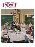 """Setting the Table"" Saturday Evening Post Cover  February 16  1957"