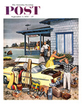 """Packing the Car"" Saturday Evening Post Cover  September 8  1956"