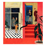 """Early Guests"", November 23, 1957 Giclée par George Hughes"