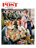 """Cafeteria Dieter"" Saturday Evening Post Cover  November 10  1956"