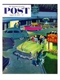 """No Vacancy"" Saturday Evening Post Cover  August 29  1953"