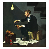 """Brown Shoes to Black"", November 4, 1950 Giclée par George Hughes"