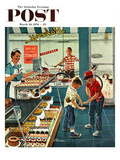 """Doughnuts for Loose Change"" Saturday Evening Post Cover  March 29  1958"